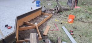 Deck Stairs In Progress