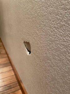 Drywall Repair Before
